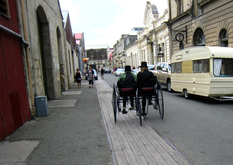 sustainable transport in Oamaru's Victorian Precinct